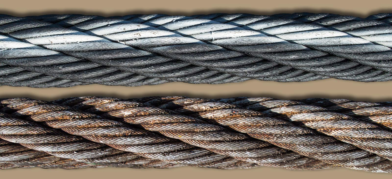 Reconditioning steel wire ropes